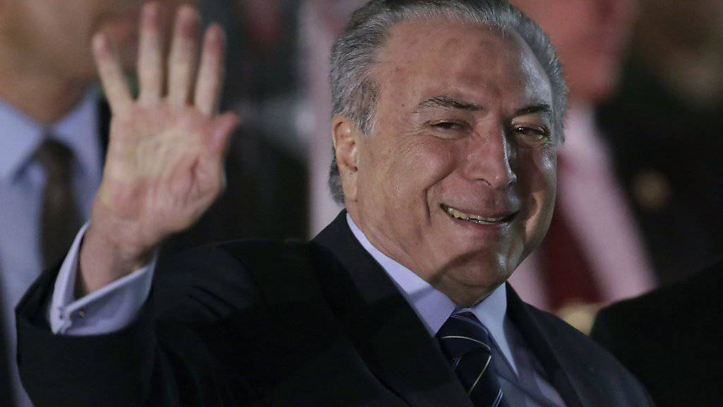 Brasiliens Präsident Michel Temer muss aufgrund eines Parlamentsentscheids keine Anklage wegen Korruption befürchten.