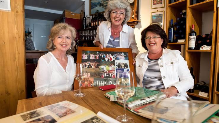 Viele Erinnerungen an viele grosse Erfolge: Ruth, Marie-Louise, Margreth und Dorli (nicht auf dem Bild) Biberstein treten seit 40 Jahren zusammen auf.