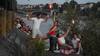 Bundesfeier am Rhein: Corona konnte sie nicht  tilgen, die Nacht der Nächte (02.08.2020)