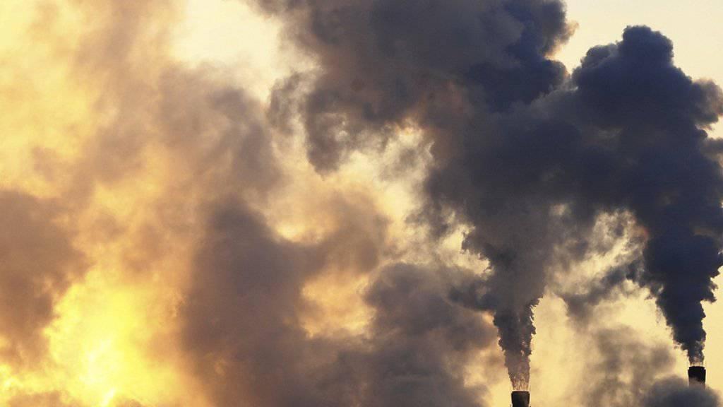 Rauch entsteigt Kaminen einer Fabrik in Changchun, der Hauptstadt der nordostchinesischen Provinz Jilin (Archiv)