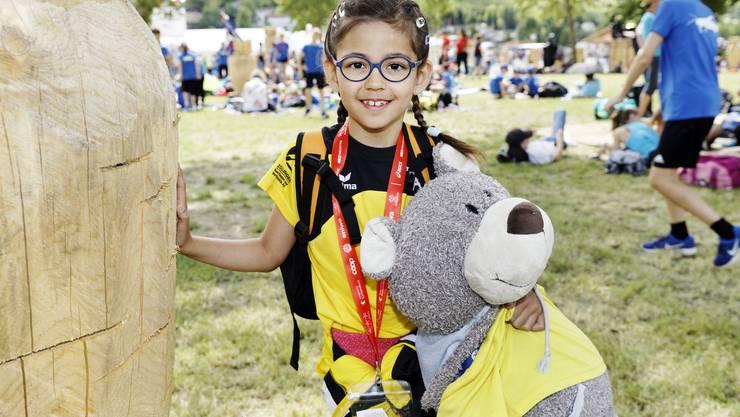 Umfrage am Eidgenössischen Turnfest in Aarau: Melina (7) aus Klingnau.