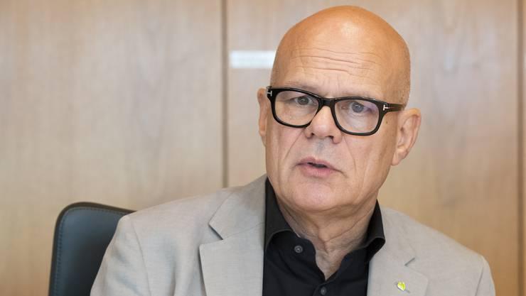 Urs Affolter, Gemeindeammann, an der MK zum Budget 2020 der Einwohnergemeinde Buchs, 18. September 2019.