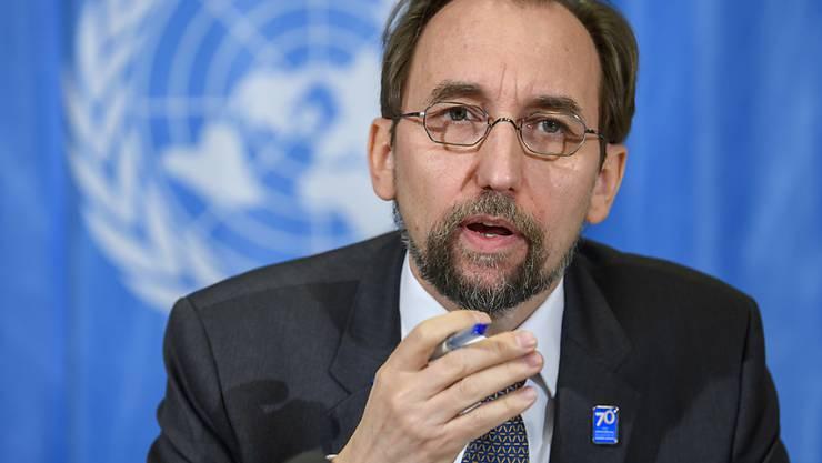 Uno-Menschenrechtskommissar Seid Raad al-Hussein hat Israel für eine überzogene Gewalt im Gazastreifen kritisiert. Es müssten diejenigen zur Verantwortung gezogen werden, welche für die Todesfälle verantwortlich seien. (Archivbild)