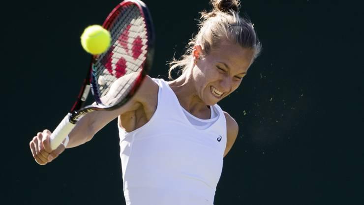 Das tut weh: Viktorija Golubic schied in Wimbledon auf ärgerliche Art aus
