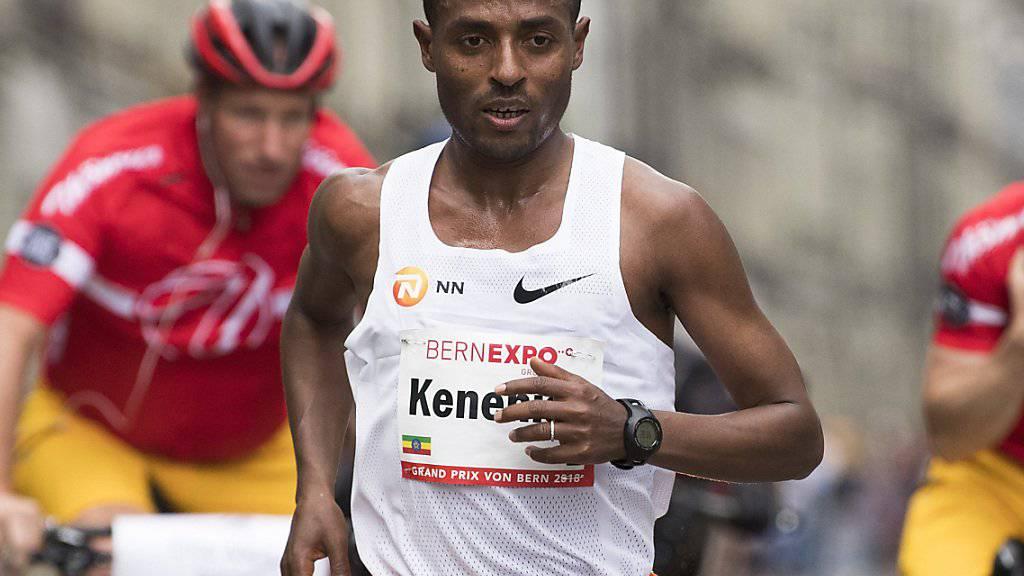 Prominenter Sieger des Grand Prix von Bern: der Äthiopier Kenenisa Bekele