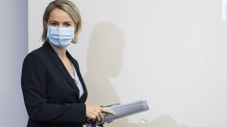 Die Zürcher Gesundheitsdirektorin Natalie Rickli informierte die Medien über die Situation der Spitäler im Kanton.