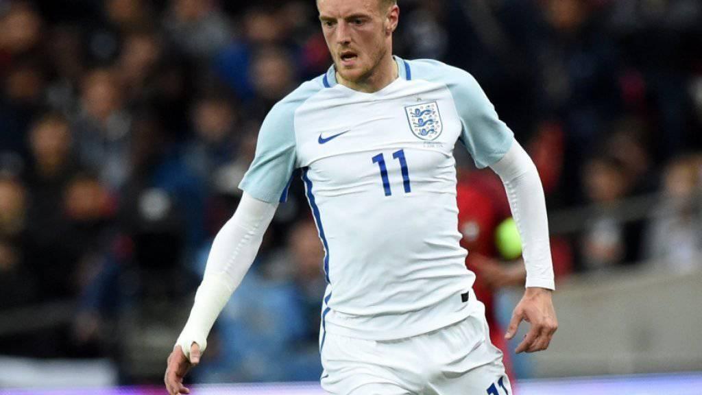 Der englische Internationale Jamie Vardy wird mit Arsenal in Verbindung gebracht