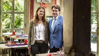Denise und Stefan Reinhard fühlen sich im Martinshof wohl.