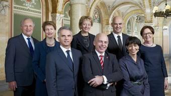 Das Bundesratsfoto 2013: Es kann heruntergeladen oder bestellt werden (Bild: VBS)