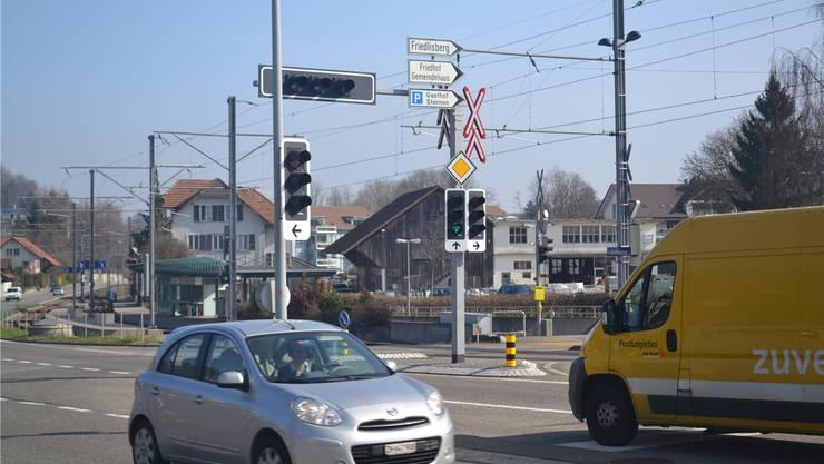 Knoten Zentrum Rudolfstetten.