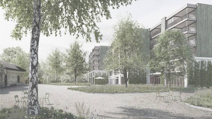 Die erste Visualisierung des neuen Schlieremer Alterszentrums.