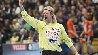 Kadetten-Goalie Björgvin Gustavsson ist gegen Montpellier gefragt.