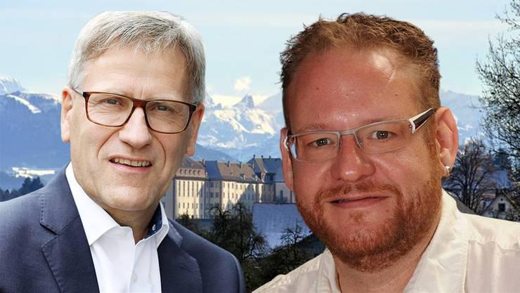 Christoph Fricker tritt für die SP an, Daniel Räber für die CVP. Die Wahlberechtigten müssen entscheiden, ov die SP wieder im Gemeinderat vertreten sein soll.