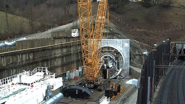 7 Monate: Die Bauarbeiten am Bözbergtunnel im Zeitraffer (1.1.2017 bis 23.7.2017)
