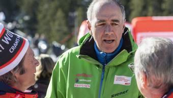 Christophe Darbellay (49), hier im Februar 2020 in Crans Montana, steht ständig mit den grossen Skigebieten in Kontakt.