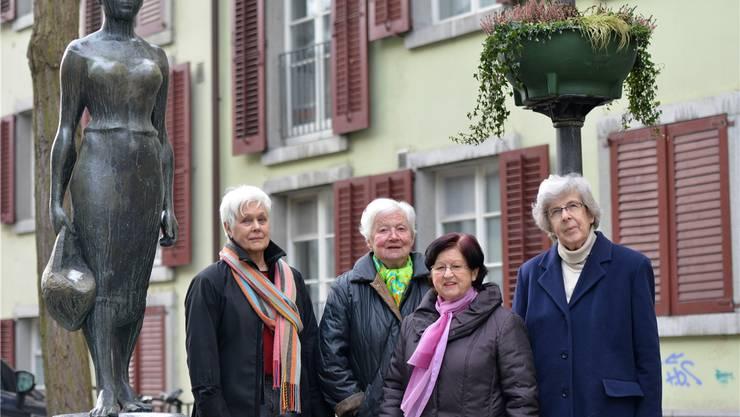 Pionierinnen (v.l.): Cornelia Füeg, Elisabeth Schibli, Elisabeth Marrer und Verena Motschi.