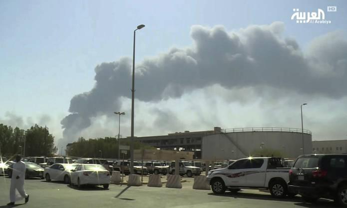 Zu den Drohnenangriffen hatten sich die Huthi-Rebellen aus dem benachbarten Jemen bekannt.