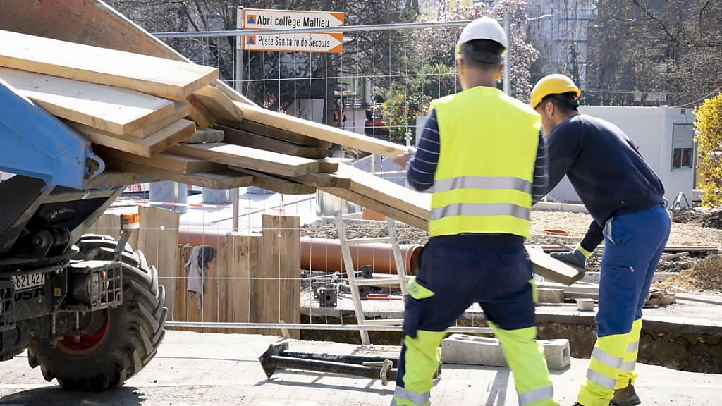 Umsatz im Bauhauptgewerbe im ersten Quartal zwei Prozent gesunken