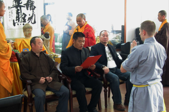 Aufnahmezeremonie in die 32. Shaolingeneration, 2011