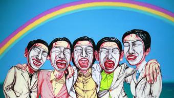 Stärker werden als der Westen: Der chinesische Künstler Zeng Fanzhi kritisiert im Bild «Regenbogen», wie in China der westliche Lebensstil kopiert wird.