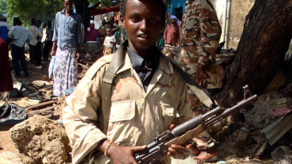 Laut Uno-Angaben wurden mehr als 7000 Kinder 2018 weltweit als Kindersoldaten rekrutiert, vor allem in Somalia, Nigeria und Syrien. (Archiv)