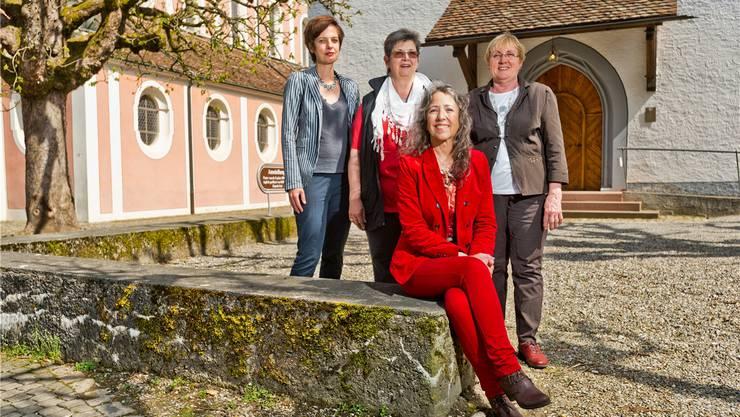 Engagiert: Susanne Holthuizen, Marie-Therese Spuhler, Ursi Payne (v.l.) und Karin Fuchs (sitzend).E. freudiger