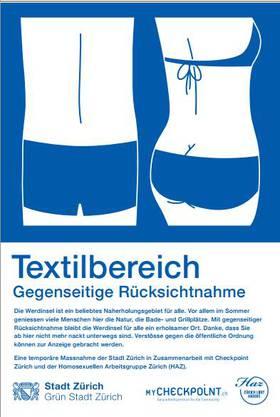 Plakat Textilbereich