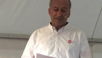 Der Zürcher SVP-Parteipräsident Konrad Langhart sprach an der Urdorfer Bundesfeier.
