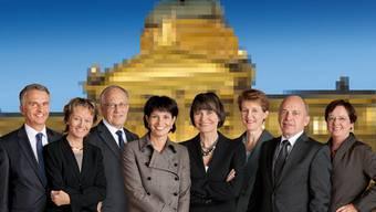 So präsentiert sich der Bundesrat der Schweizer Bevölkerung