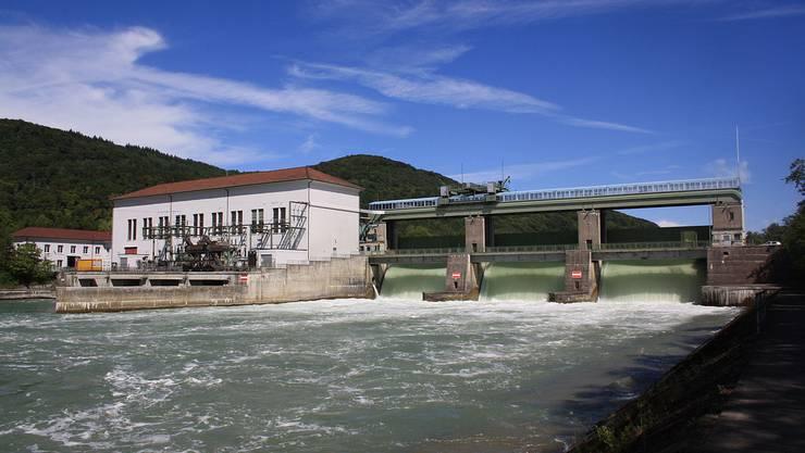 Das Rheinkraftwerk in Reckingen. (Archivbild)