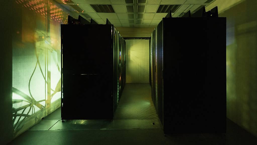 Cloud-Dienste erhöhen die Sicherheit beim Datentransfer zwischen PC und Handy. Das Bild zeigt Server einer Internet-Sicherheitsfirma. (Symbolbild)