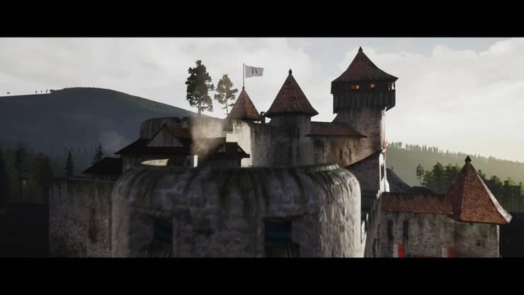 Für den Film wurde eine Rekonstruktion der Burg Dorneck angefertigt.