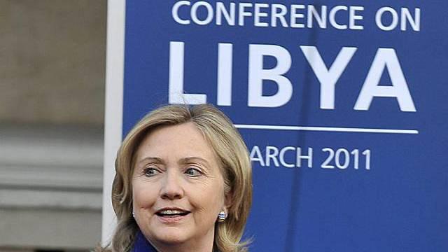 US-Aussenministerin Hillary Clinton in London
