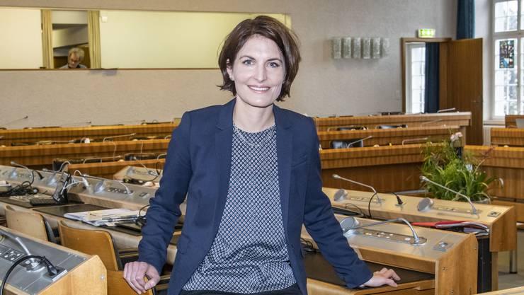 Als Parteichefin tritt sie zurück, doch Baselbieter Landrätin bleibt Saskia Schenker.