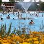 Im Juli 2018 zu Besuch in der Badi Grenchen