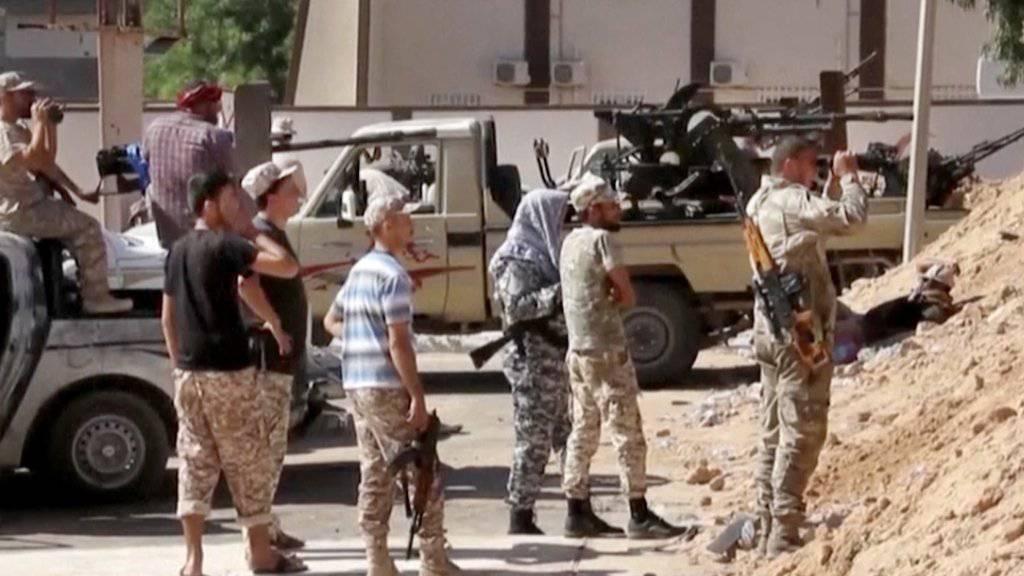 Kämpfer der neuen Einheitsregierung in Sirte.