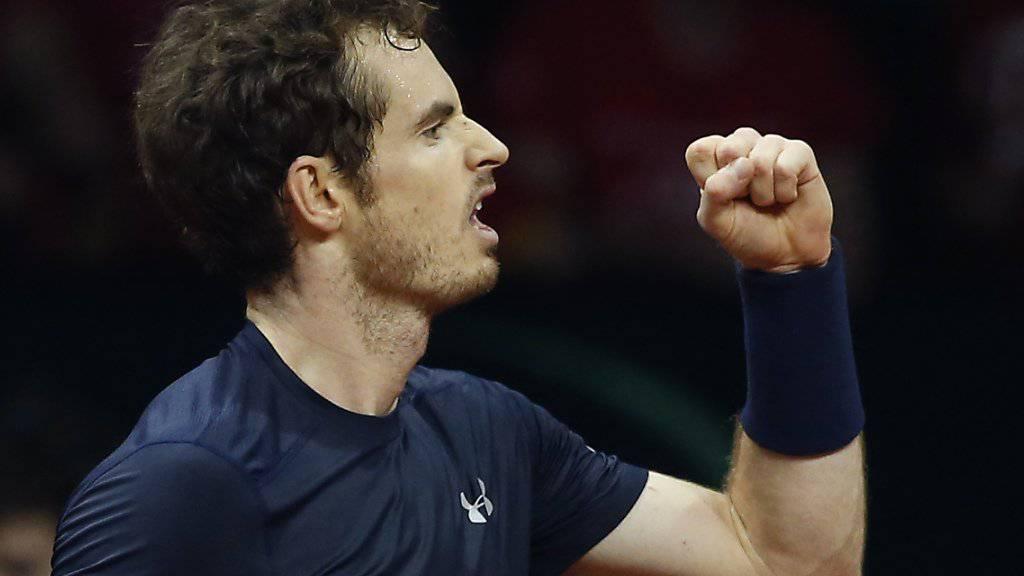 Andy Murray führt Grossbritannien mit makelloser Bilanz zum Davis-Cup-Sieg