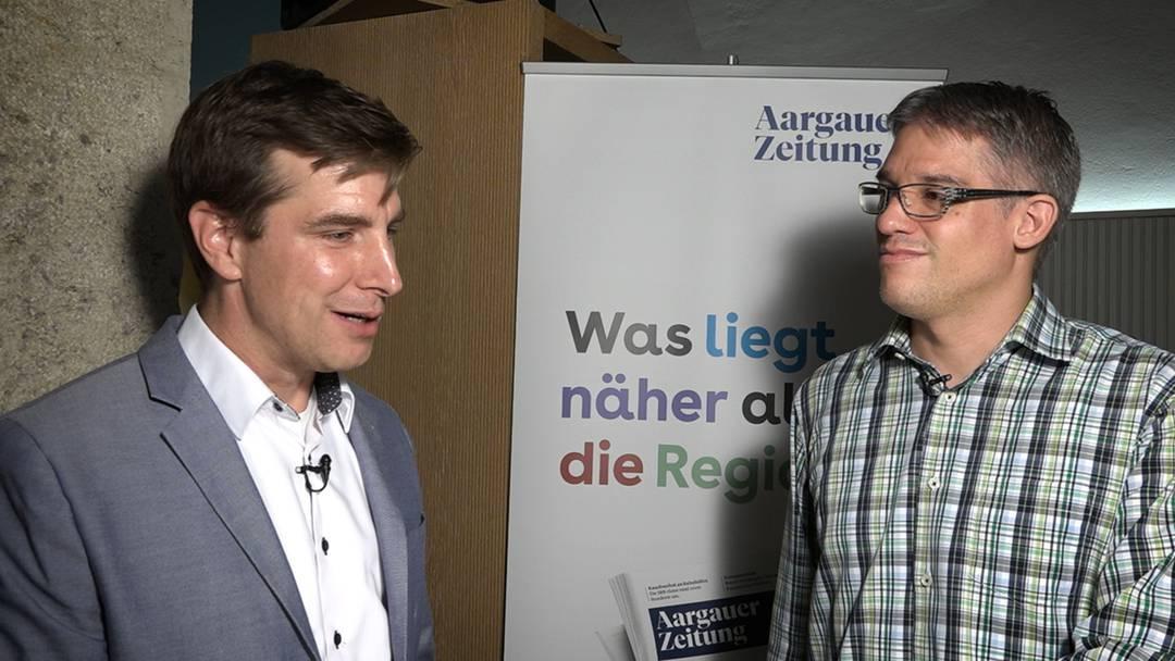 """Grünen-Präsident Hölzle schon früh im Grossratsgebäude: """"Zuhause habe ich die Familie nervös gemacht"""""""