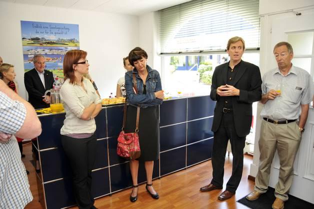 Angela Kummer (Kultur-Historisches Museum), Daniela von Büren Kummer (Kunsthaus), Theodor Eckert (Chefredaktor SZ/GT) und Polizeikommandant Robert Gerber