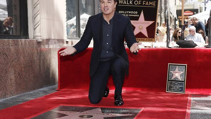 """Enthüllte seinen Stern auf dem """"Walk of Fame"""" in Hollywood: US-Komiker Seth MacFarlane."""
