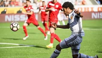 Omar Gaber möchte sich künftig häufiger in die Offensive einschalten können, wie hier gegen Thun.