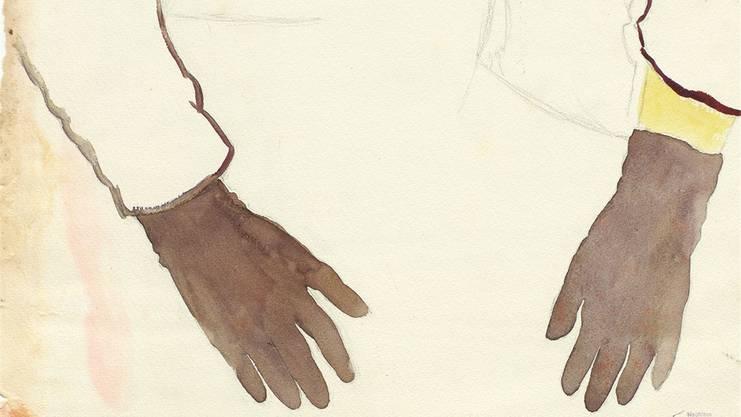 Zeichnung von Gertrud Schwyzer (1896–1970), die 1920 eine Ausbildung an der Kunstakademie München begann. 1927 wurde sie in die Heil- und Pflegeanstalt Herisau gebracht.