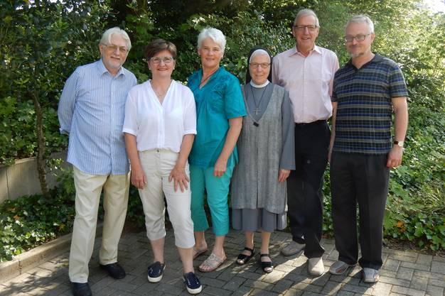Vorstand: Bruno Gächter, Doris Sartor, Alice Bösch, Sr. Elisabeth Müggler, Peter Heinzer, Markus Binder