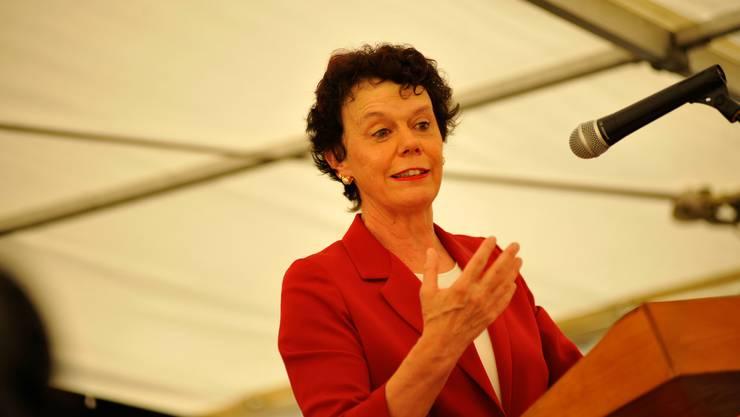 Esther Gassler hat am Dienstag überraschend als Taufpatin der Aarefähre abgesagt. (Archiv)