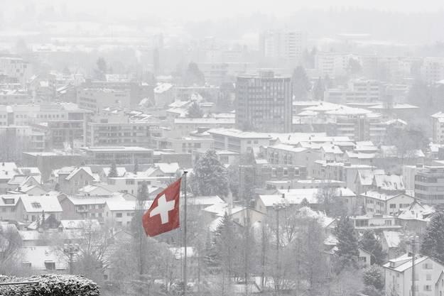 Verschneites Baden.