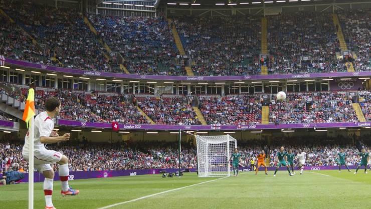 Millennium Stadium: Schweizer Fussballer während London 2012