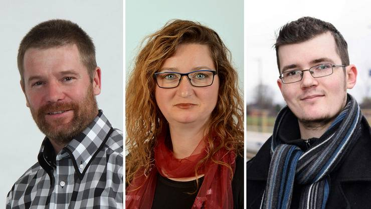 Thomas Haller (51, EDU), Edith Kyburz-Stepanek (37, parteilos) und Roman Merz (24, SP)