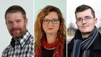 Thomas Haller (51, EDU), Edith Kyburz-Stepanek (37, parteilos) und Roman Merz (24, SP)