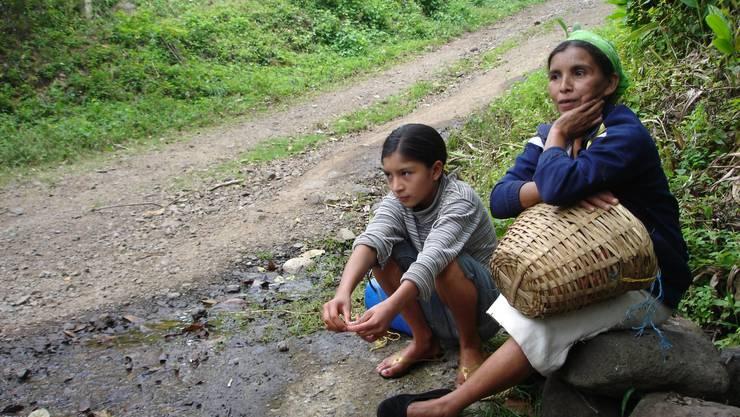 Kaffeepflückerin in Nicaragua