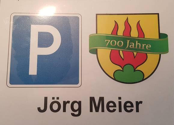Jörg Meiers mutmassliche Dauerparkkarte